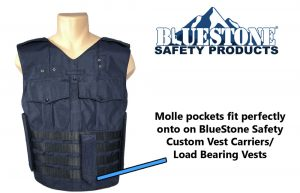 Half Molle Dark Blue Load Bearing Vest with Magazine Pouch