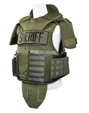 Extreme Measures Green Level 3A Bulletproof Vest with additional Shoulder, groin, and neck protection