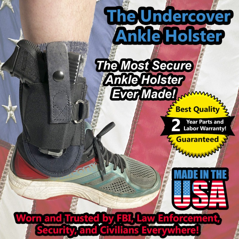 Undercover Ankle Holster with D-Ring (Fits Glock 26,27,30)