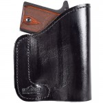 Black Ultimate Leather Purse Holster - Fits Inside Any Purse - For Sub-Compact Handguns
