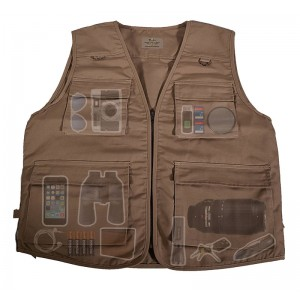 On-the-Road Travel Vest For Photography, Travel, Hiking - Tan