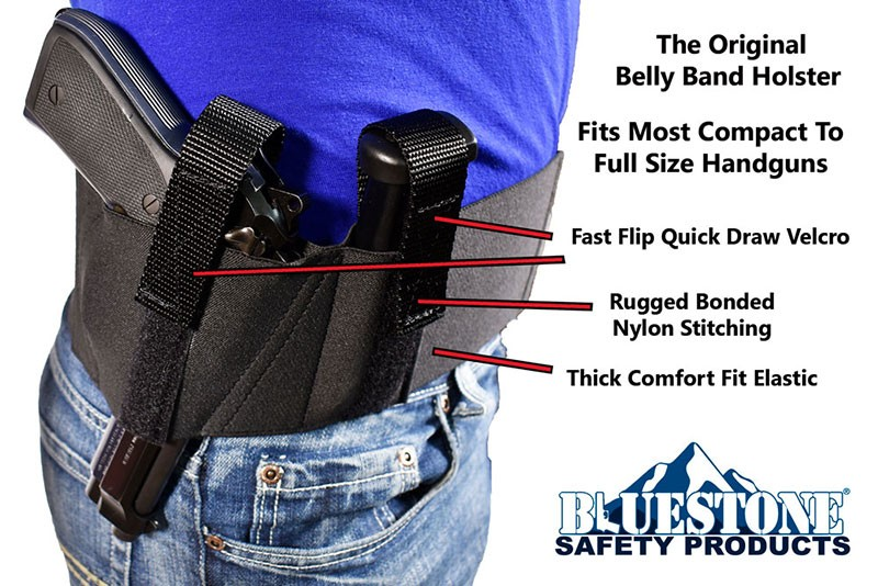 Original Concealed Carry Belly Band Holster (Fits Compact-Full)