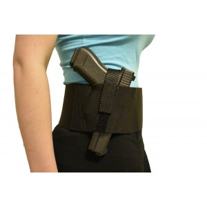 Unisex Basic Concealed Carry Belly Band Holster (Fits Compact-Full)
